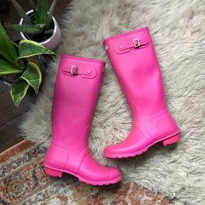 Hunter Original Pink Tall Rain Boots